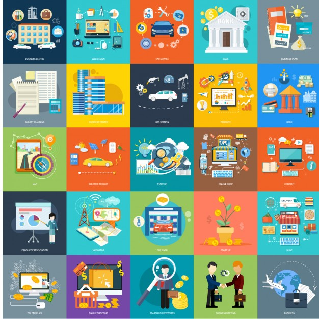 Free Flat Icon Vectors Marketing