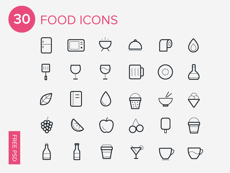 Free Food Vector Icon Set