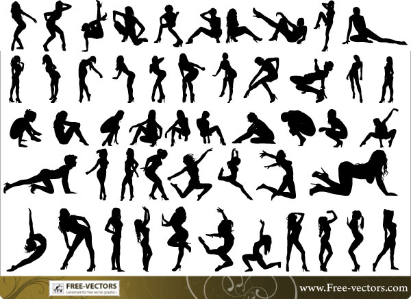 Free Vector People Silhouette Clip Art