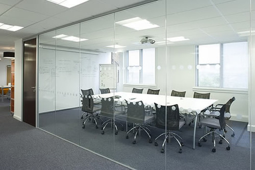 Glass Office Conference Room Design