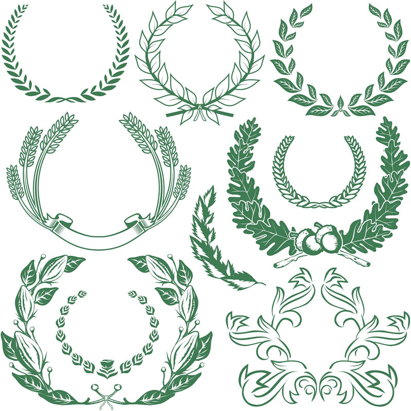 8 Vector Grapes Wreath Images