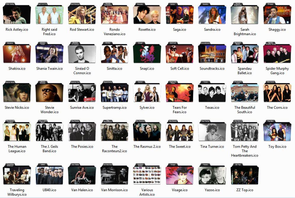 Music Folder Icons Windows 7