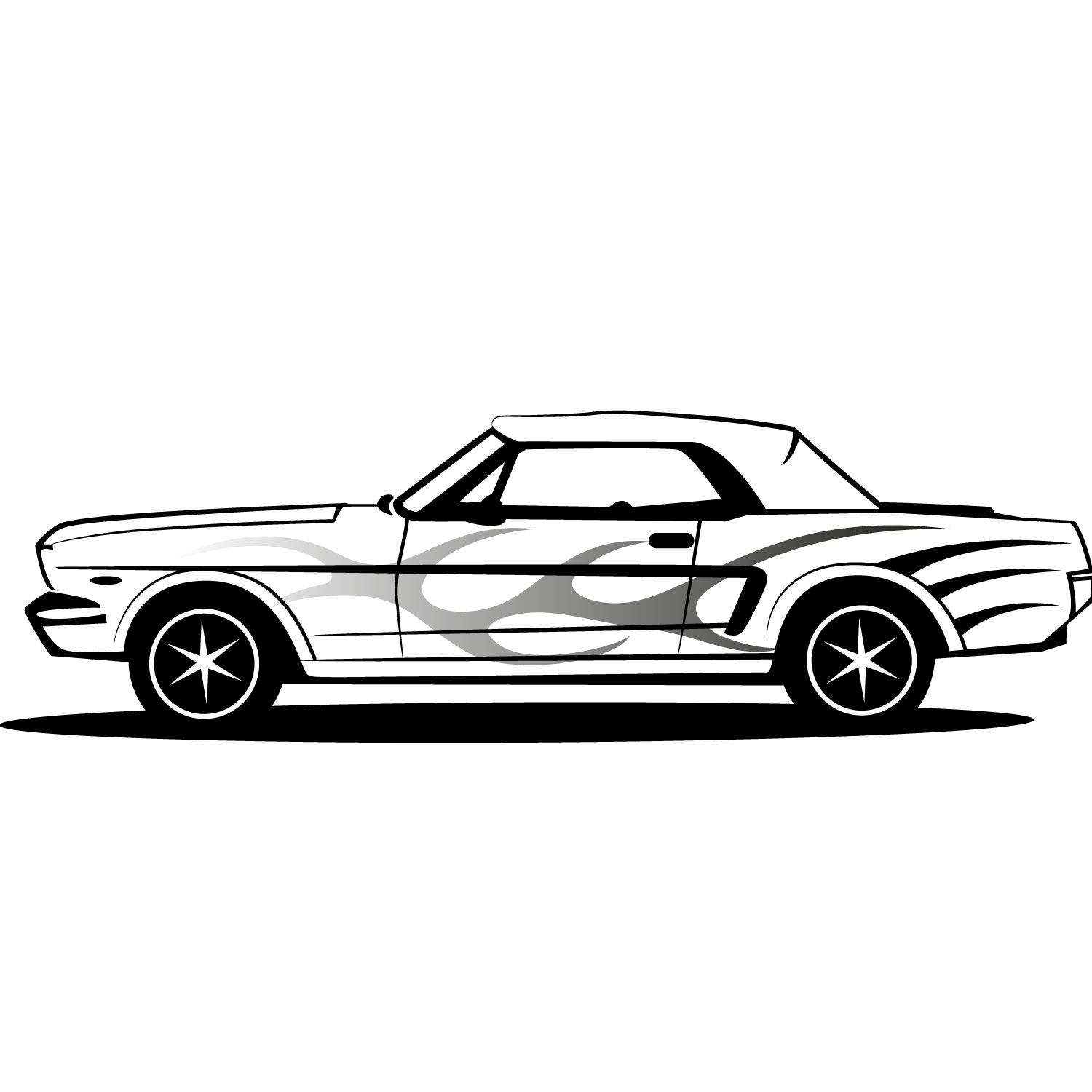 16 Mustang Car Vector Images