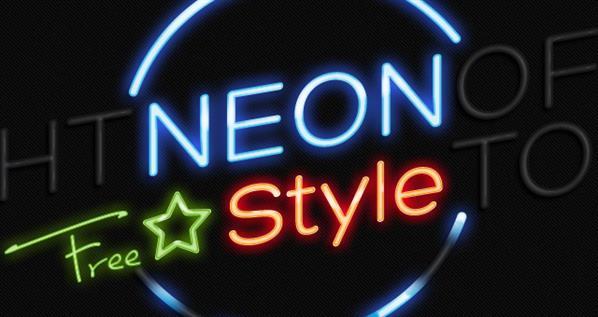 Neon Text Photoshop