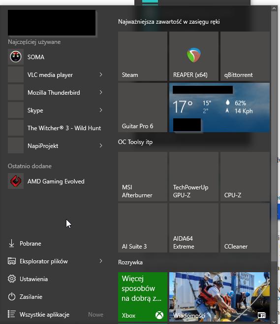 No Icons Start Menu in Windows 10
