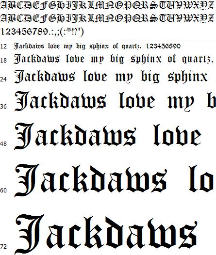Old English Fonts Free