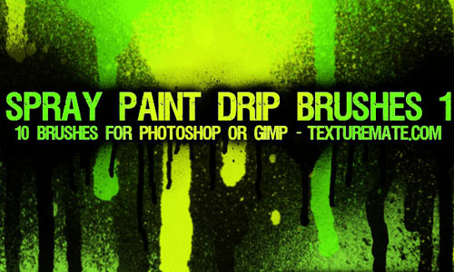 Paint Drip Photoshop Brushes