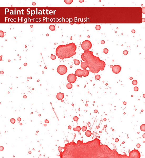 Paint Splatter Brush Photoshop