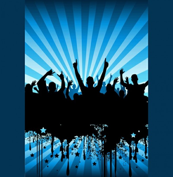 13 Party Crowd PSD Images