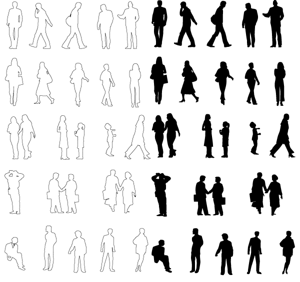 Photoshop Person Silhouettes