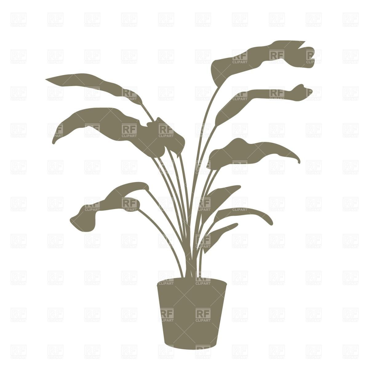 Plant Silhouette Clip Art Free