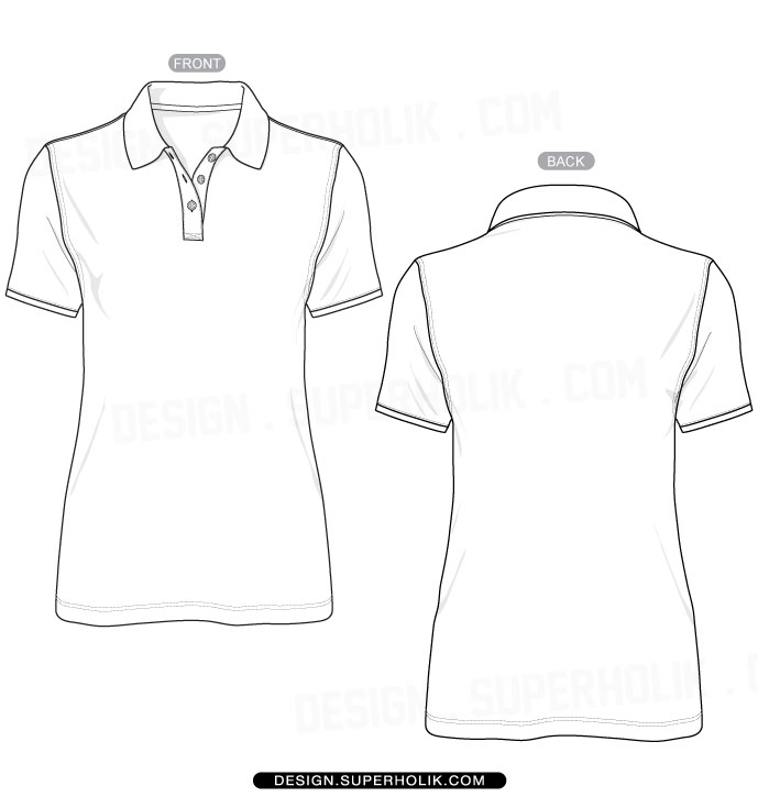 11 Polo Shirt Vector Template Images