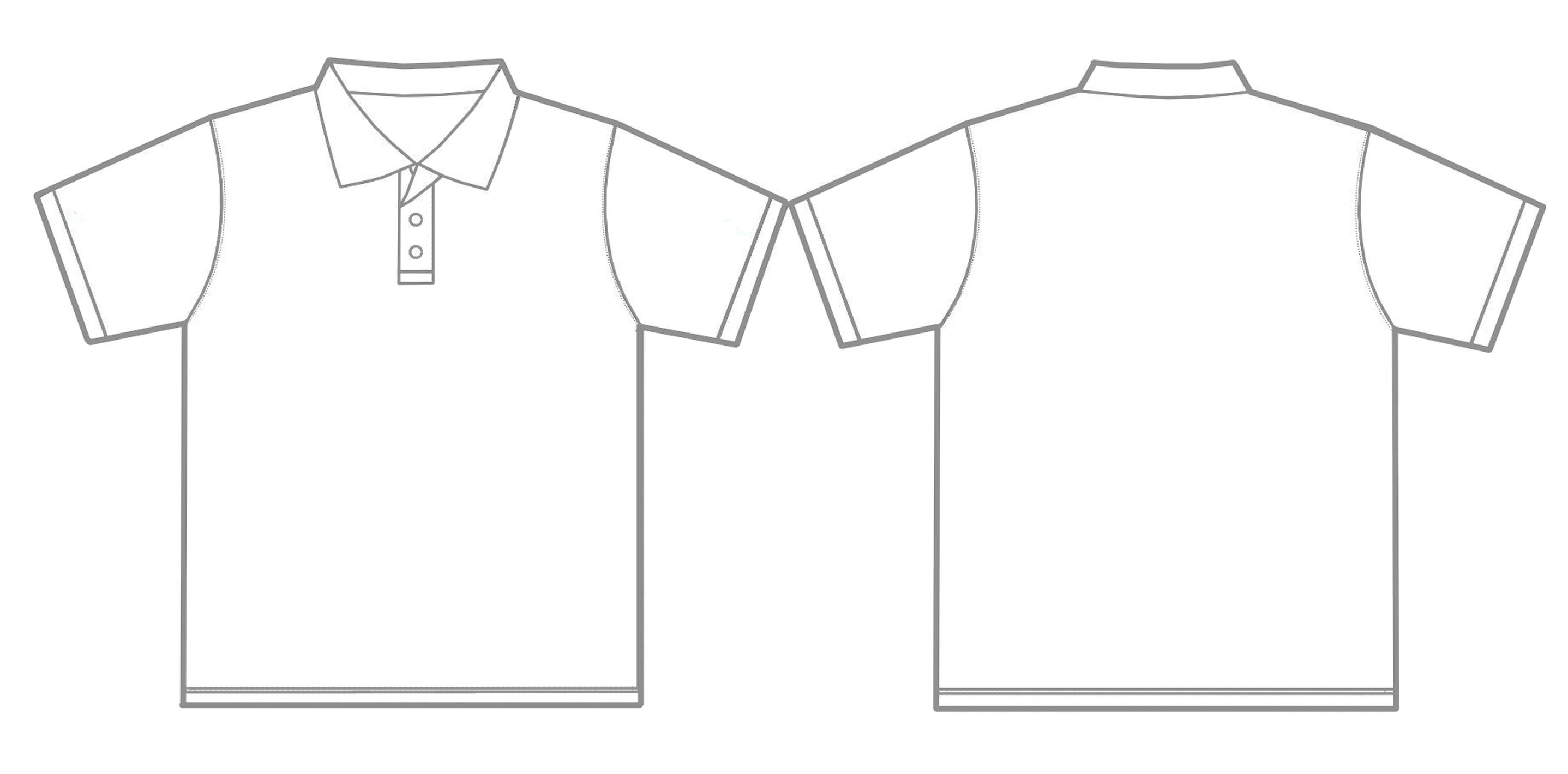 Polo shirt outline royalty free vector image vectorstock.