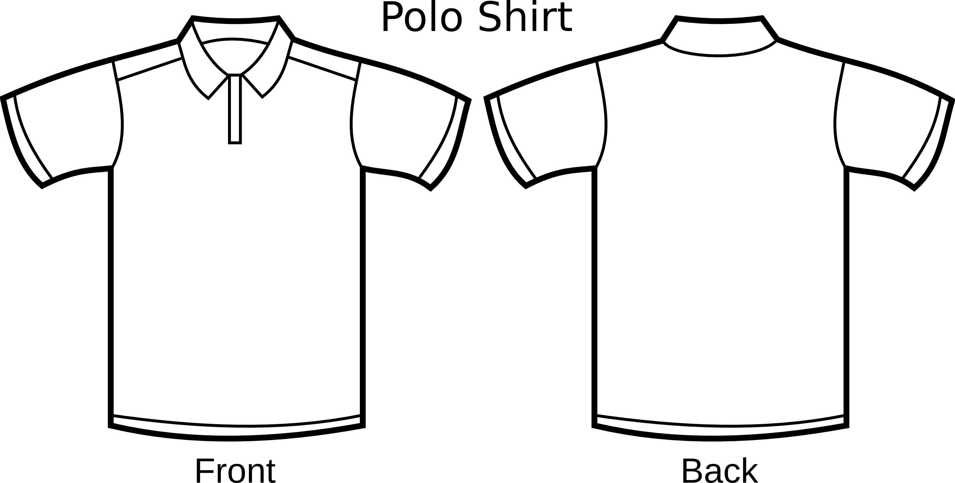 Polo Shirt Outline Template