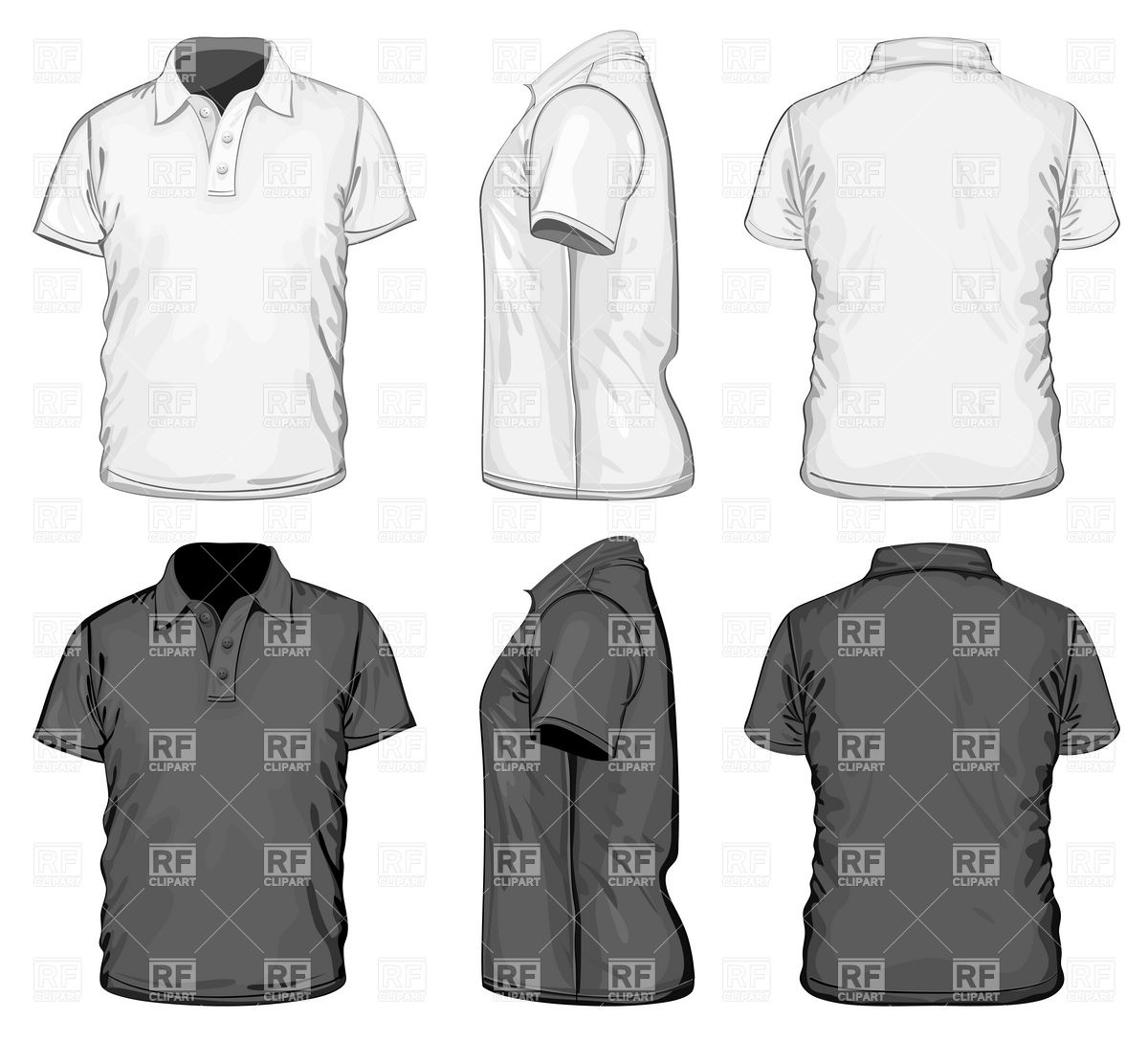 Polo Shirt Template Vector EPS