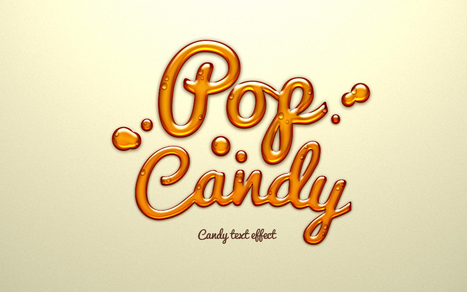 Pop Candy Text Effect Photoshop