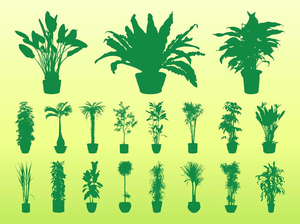 Potted Plant Silhouette