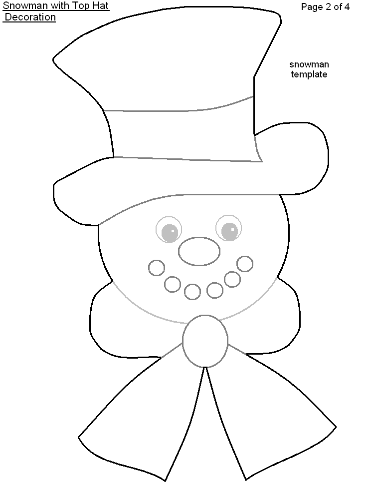 photograph relating to Snowman Patterns Printable identified as 15 Snowman Hat Template Photographs - Printable Snowman Hat
