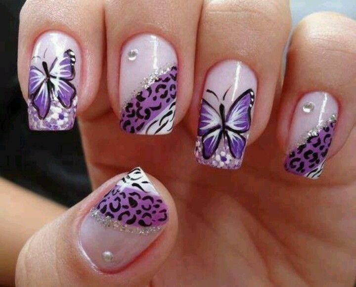 14 Butterfly Nail Designs Images