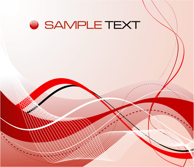 Red Black Abstract Vector