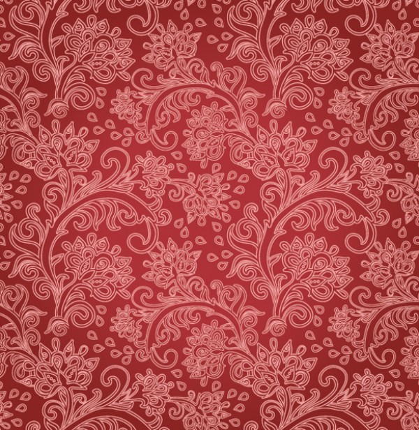 Red Floral Pattern Vector
