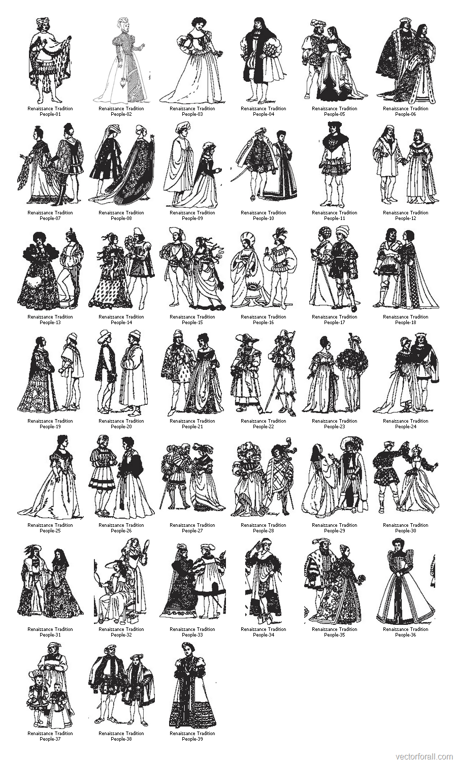 Renaissance People Clip Art Free