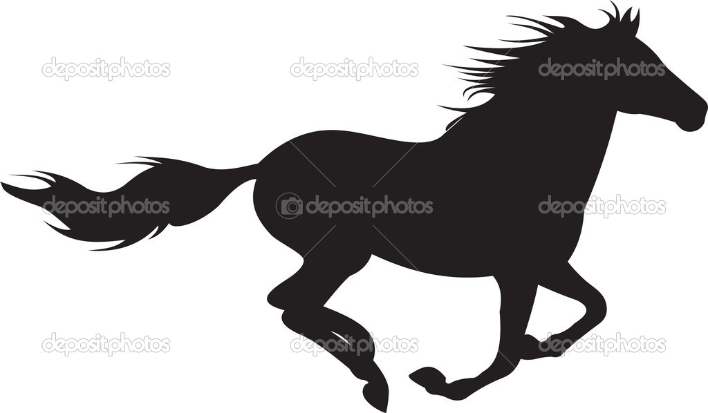 19 Horses Running Silhouette Vector Free Images
