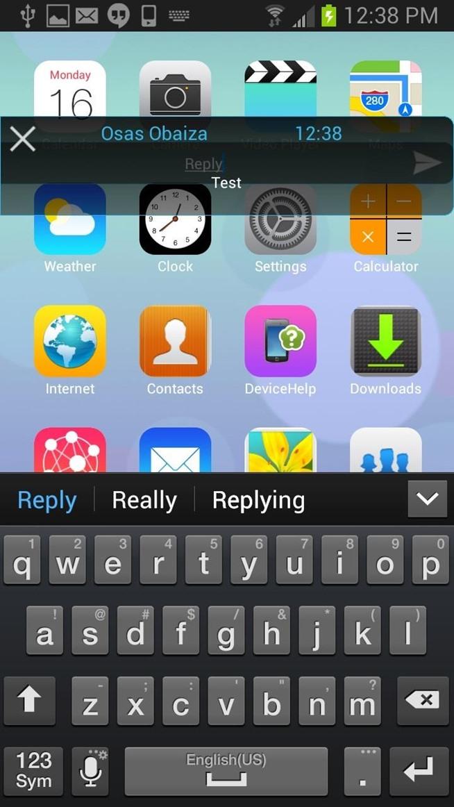 Samsung Galaxy S3 Text Message