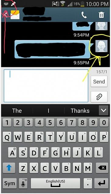 Samsung Galaxy Text Message Icon