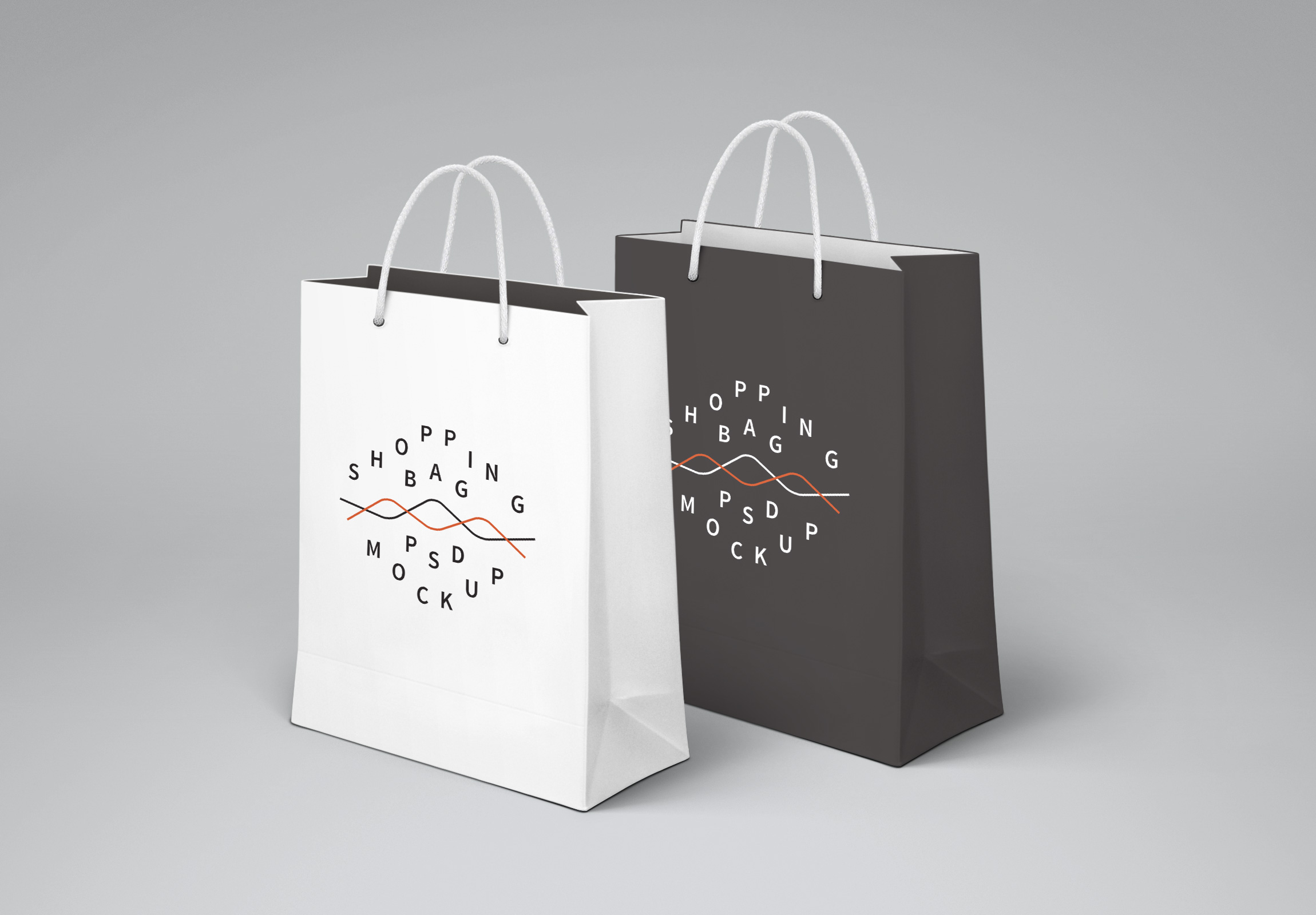 10 Shopping Bag PSD Mockup Images
