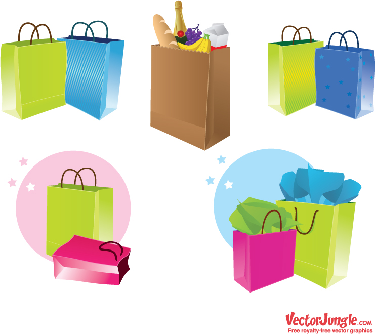 7 Shopping Bag Icon Vector Images