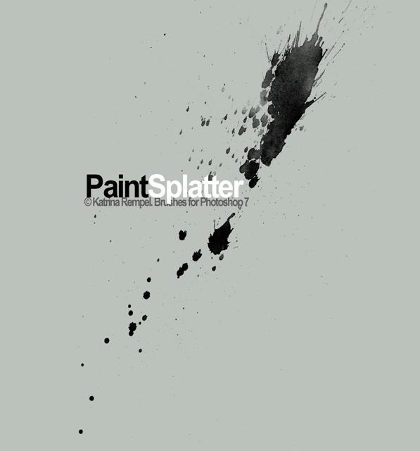 Single Paint Splatter Clip Art