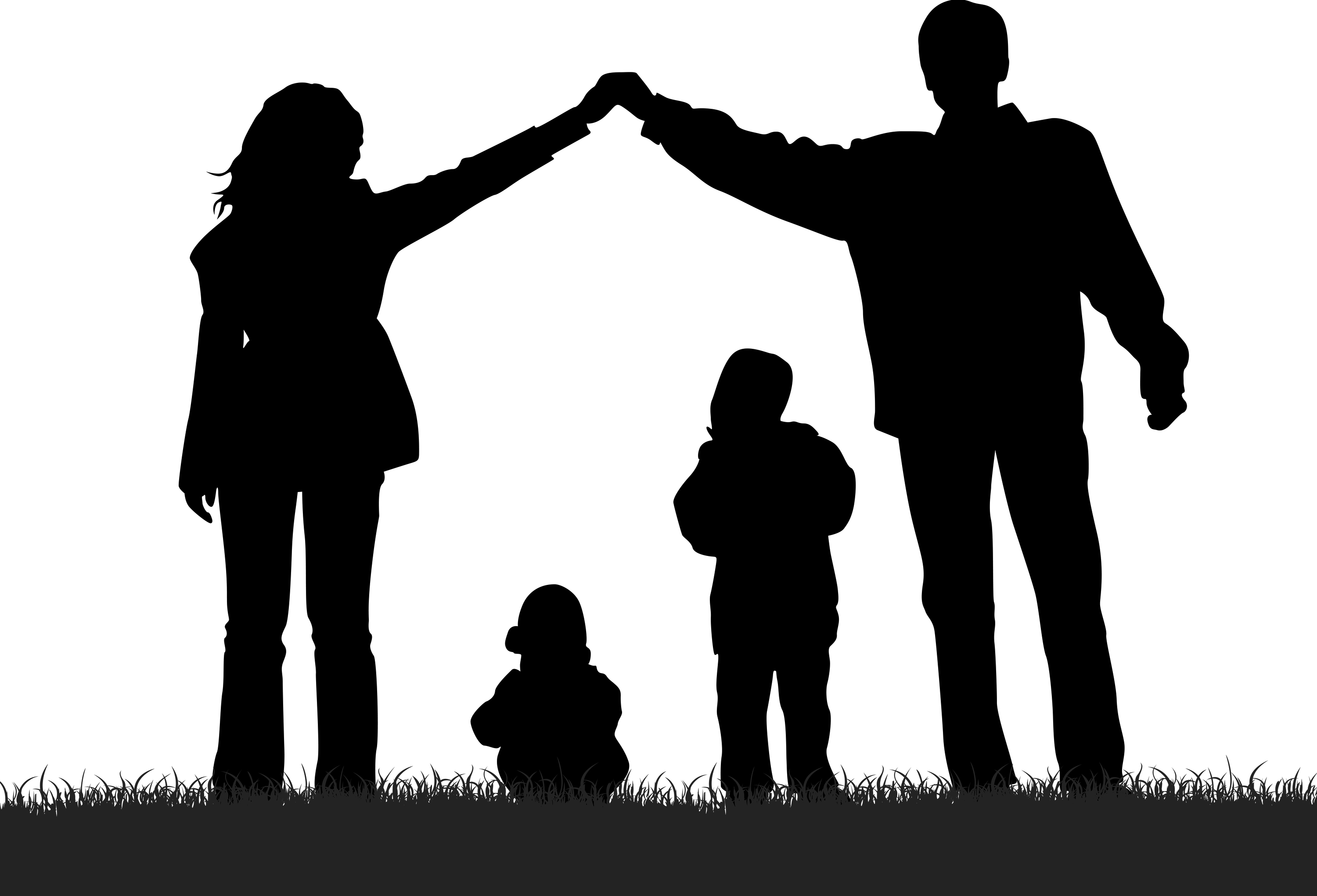 Single Parent Family Silhouette