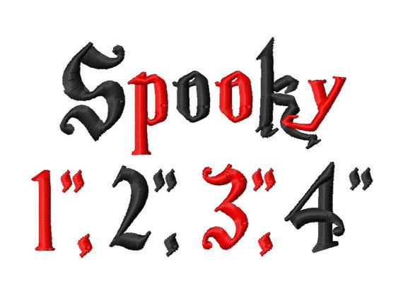 Spooky Font Machine Embroidery