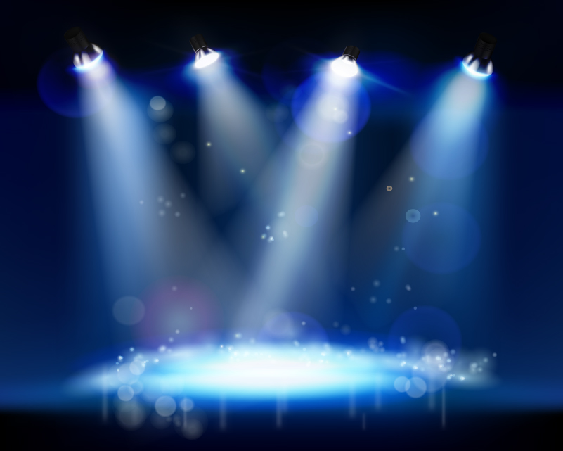 3d Light Effects Ppt Background: 12 Crowd Stage Background Psd Images