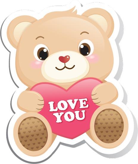 Teddy Bear Love Cartoon