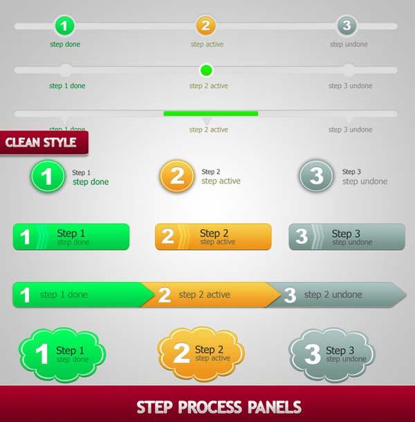 12 Step Form UI PSD Images