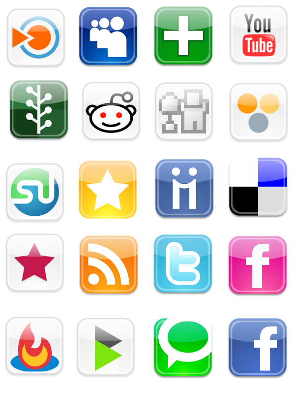 7 Web 2.0 Icons Images
