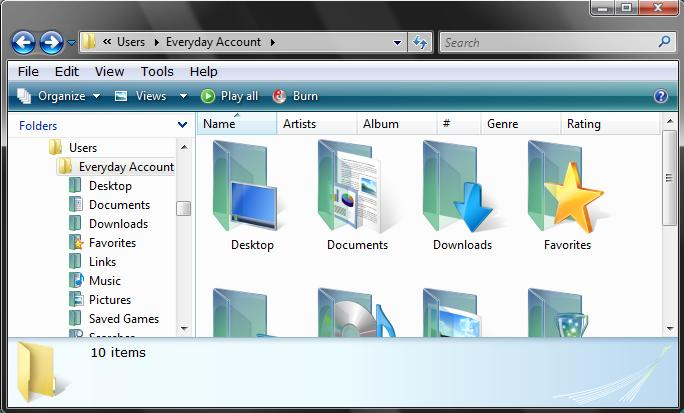 Windows Explorer Folder Icons