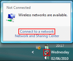 Windows Vista Wireless Connection Icon