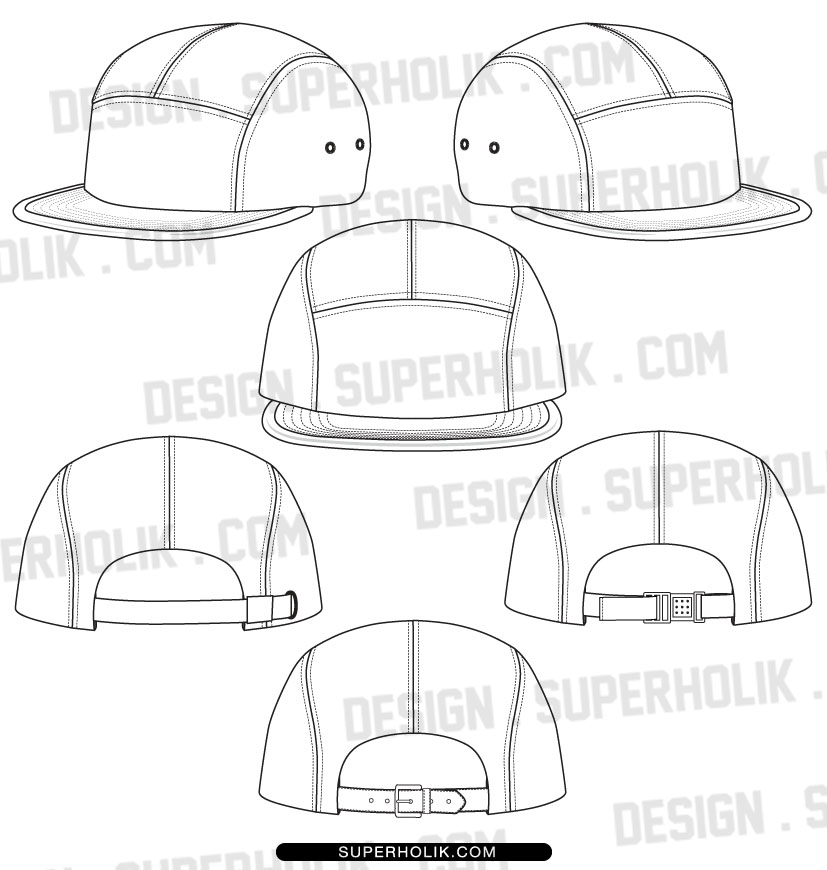 7 Snapback Hat Design Template Images