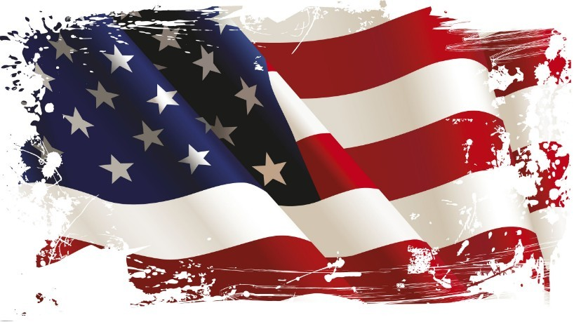 5 Vintage American Flag Vector Images
