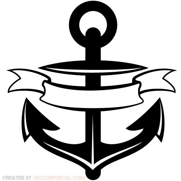 19 Anchor Vector Ribbons Images