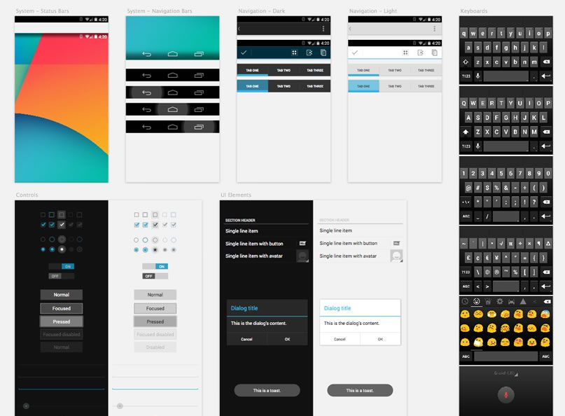 12 Android Design Templates Images - Android Mobile Design