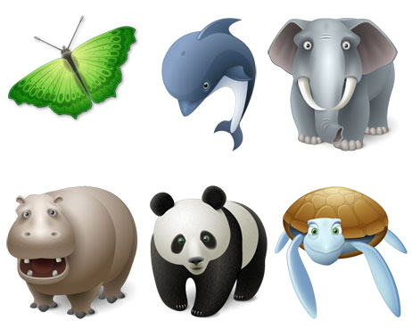 9 Icons Free PNG Animals Images