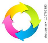 Arrow Icons Flow Chart