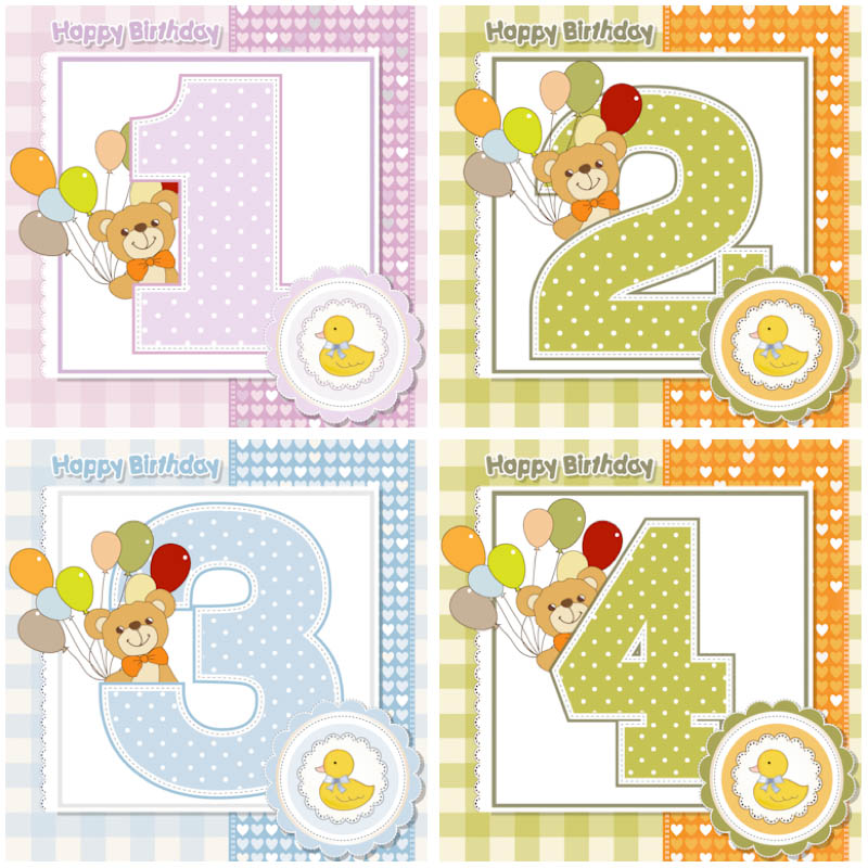 Baby Clip Art Birthday Cards