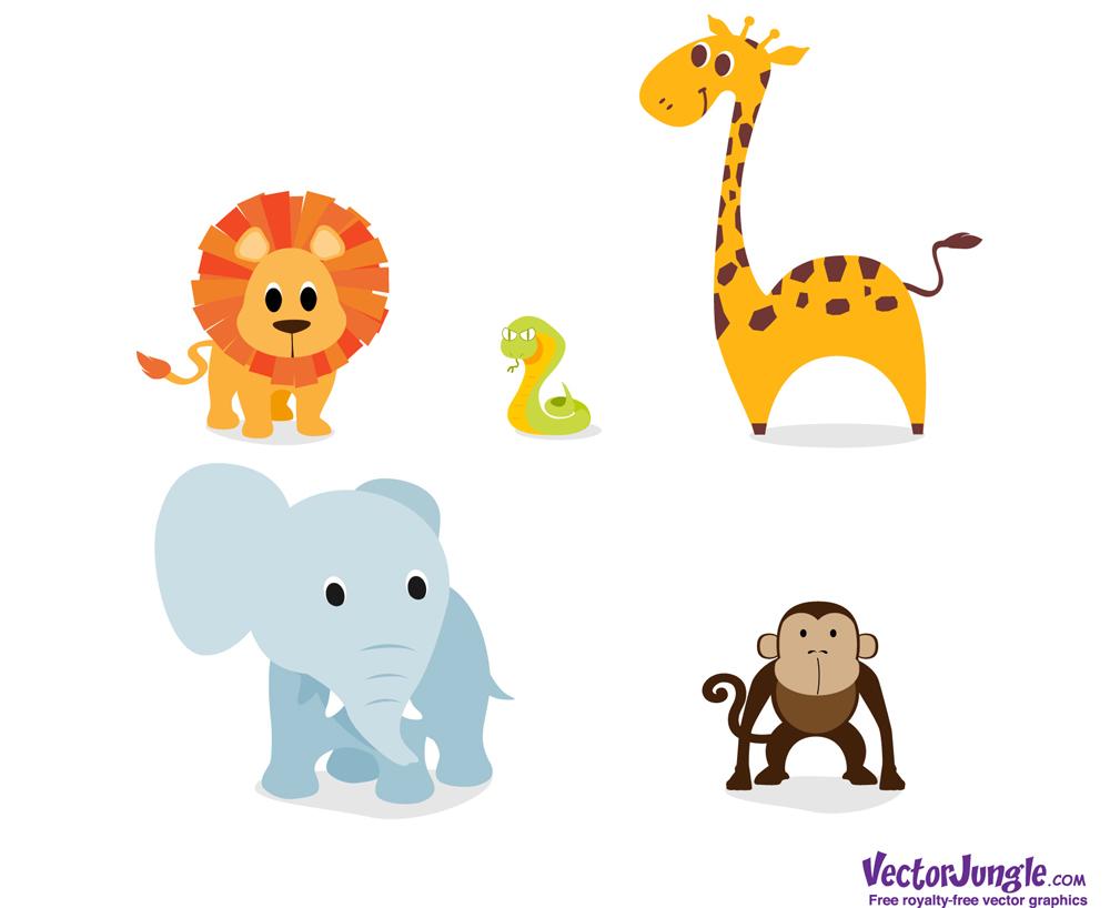 Baby Jungle Animal Clip Art Free