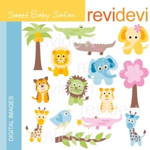 Baby Safari Clip Art