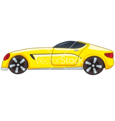 Back of Car Cartoon Vector